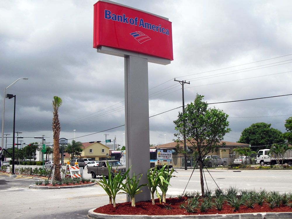 Matteos Commercial Landscaping Bank of America Florida